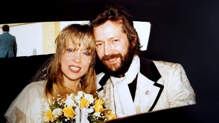 photo of Pattie Boyd and Eric Clapton