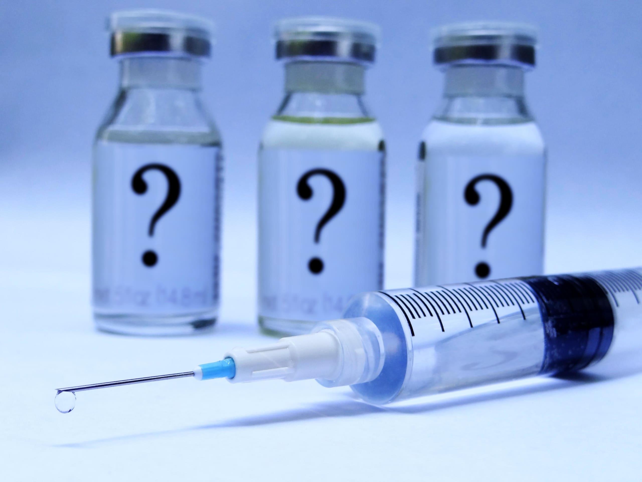 syringe and vaccine